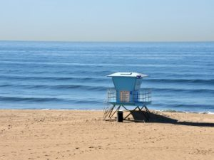 Photo of a Huntington Beach Lifeguard Station