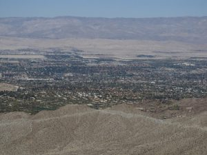 View of Palm Desert, Coachella Valley Vista Point, Pines to Palms Scenic Byway, California by Ken Lund