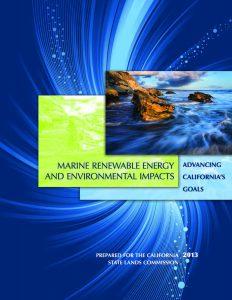 Cover of 2013 report - MRE Advancing CA Goals