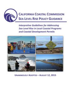 Cover image for the Sea-Level Rise guidance document adopted 08/2015