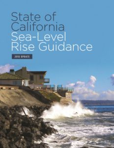Cover image of the 2018 Update of the Sea-Level Rise Guidance Plan
