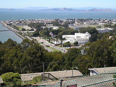 Photo of the view of Teasure Island from Yerba Buena