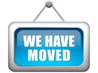 """image of a sign reading """"we have moved"""""""