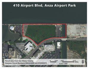 Aerial photo of 410 Airport Blvd., Burlingame CA