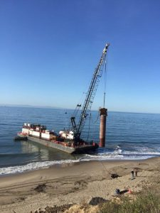 Photo of Becker well cofferdam install