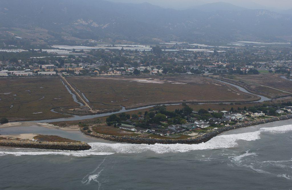Aerial view of Carpinteria, Santa Barbara County.