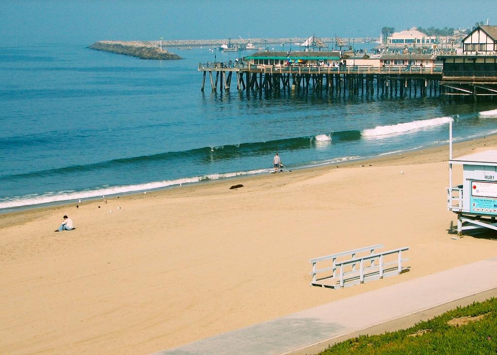 Redondo Beach and piers.