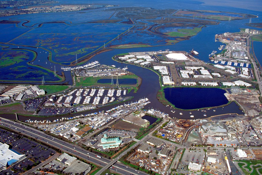 Aerial view of the City of Redwood City