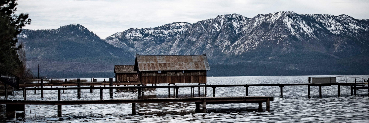 Tahoe Boathouses. Photo by Mark Hinte. Cropped.