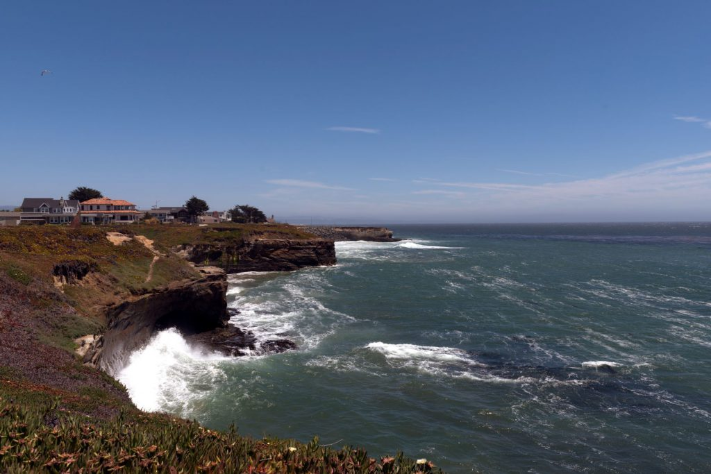 Pacific Coast view in Santa Cruz, California.