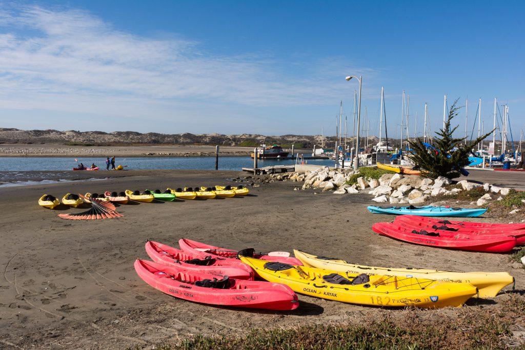 Kayaks at Moss Landing, Monterey County