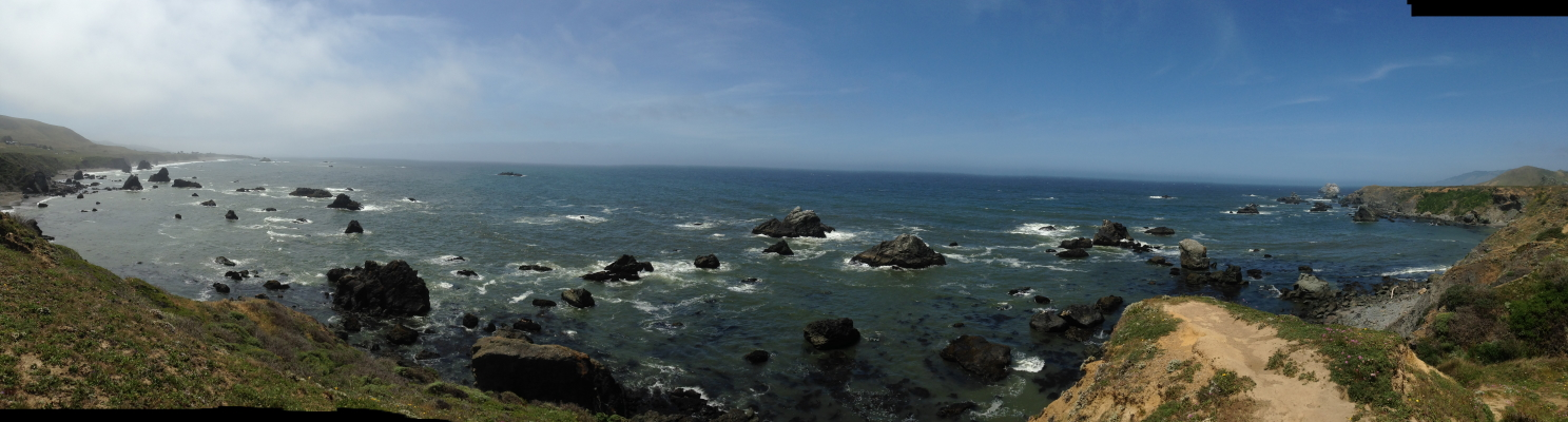 panoramic view of the pacific coast